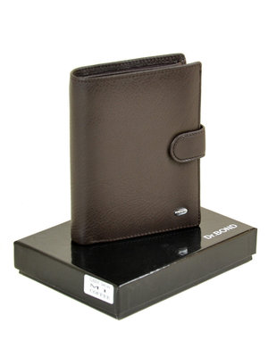 Кожаный мужской кошелек черный, коричневый натуральная кожа