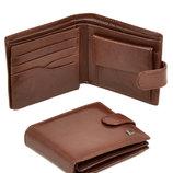 Мужской кожаный коричневый кошелек Softina Bretton натуральная кожа