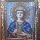 Икона вышитая бисером Ирина