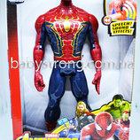 Фигурка Супер героя Человек Паук /Spider Марвел- Мстители Большая 30 См Свет, Музика Отличное Ка