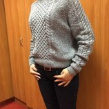 Короткий женский свитер. Оверсайз. Теплый. Оригинал из Англии
