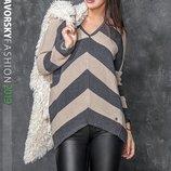 Вязаный свитер Оверсайз Мия - 2 пять расцветок