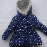 Фирменная теплая деми куртка девочке 1,5-2 лет в идеале
