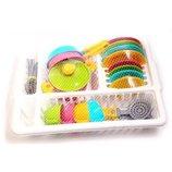 Кухонный набор 5 Технок посудка игрушечная посуда с сушкой