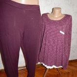 пижама вискозная скомбинированная кофта со штанишками р20-22 большой размер