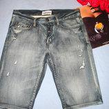 мужские шорты джинсовые размер W30 w 30 размер 46 стрейчевые средней длины модные шортики мужские