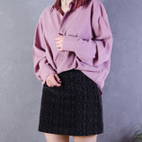Бархатная юбка короткая, серая юбка трапеция с узором