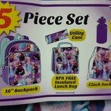 Рюкзак школьный 5в1 , для девочки, средний, тканевый, DISNEY