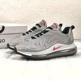 Серебристые мужские кроссовки nike air max 720 41 42 43 44 45 размер