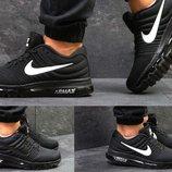 Кроссовки сетка Nike Air Max 2017 черные