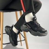 Кроссовки Balenciaga Triple S all black