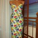 Платье-Бюстье платье-Футляр цветочный принт р.8 ASOS