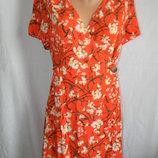 Новое натуральное платье на запах primark 12-14p