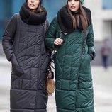 Стильное зимнее пальто четыре расцветки