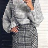 Юбка на подтяжках и свитер 42-46 две расцветки