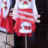 Нарядное детское платье с вышивкой пошив под заказ