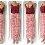 Cтильная длинная юбка на запах Bhs. Размер uk10 S .