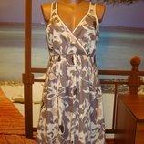 Платье сарафан летнее хлопковое хлопок sandwich р.10