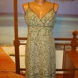 Сарафан платье летнее хлопковое хлопок в цветочный принт р.10-12 H&M