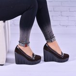 Женские кожаные туфли Уайт