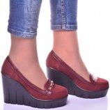 Женские кожаные туфли Уайт3