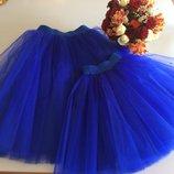Яркие пышные нарядные фатиновые юбки пачки для мамы и дочки