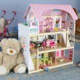 Кукольный деревянный домик куклы, домик для кукол, кукольный дом. Польша. Ar.