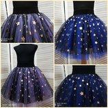 Пышные юбки из фатина и сетки в звезды