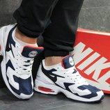 Топ Качество. Кроссовки Nike Air Max 2 Light сине-белые KS 840
