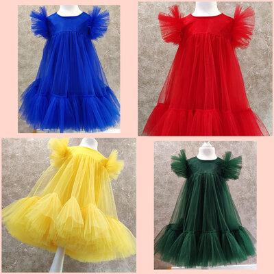 Самые пышные платья из евросетки на праздник, выпускной или утренник