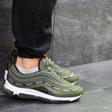 Nike Air Max 97 кроссовки мужские демисезонные зеленые 7103