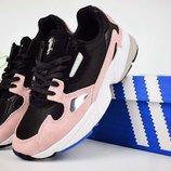 Кроссовки женские Adidas Falcon black/pink