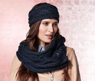 вязаный шарф хомут снуд 185х30 см от тсм Tchibo германия 200 грн