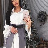 Комплект платье рубашка и юбка два цвета