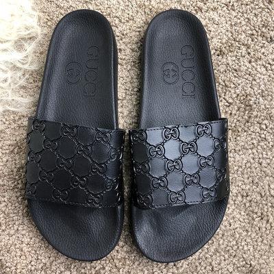 Шлепанцы Gucci Slide Sandal GG Supreme Black