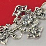 Крестик серебро 925 проба 5.10 грамма