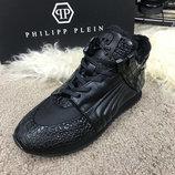Кроссовки утепленные Philipp Plein Skull Ivory Black