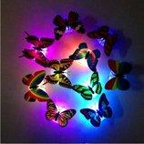 Светящиеся 3 d бабочки на стену