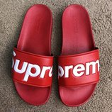 Шлепанцы Supreme Slide Sandals Flip Flops Red