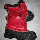 13,5 см стелька, зимние кожаные ботинки Taggy, обувь из Швеции