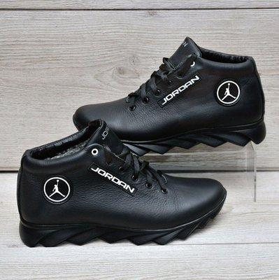 Мужские кожаные зимние ботинки Джордан Jordan