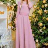 платье в пол 42-44 44-46 46-48 48-50 ткань креп с люрексовой ниткой