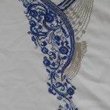 Вышитая бисером заготовка для женского платья без рукавов