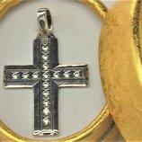 Крестик серебро 925 проба 4,73 грамма