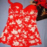 купальник платье монокини сдельный размер 50 / 16 чашка 85 С 85с слитный юбочкой купальник сдельный