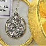 Подвеска медальон серебро 925 проба 3,00 грамма