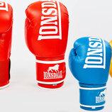 Перчатки боксерские кожаные на липучке Lonsdale 6760 10-12 унций, кожа 3 цвета