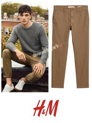 Брюки штаны чинос slim fit 36 размер хлопок бавовна от h&m