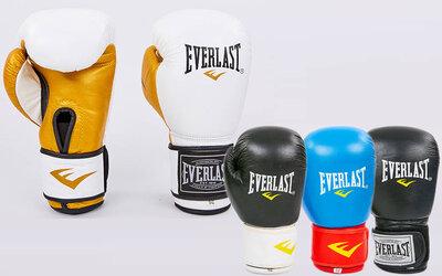 Перчатки боксерские кожаные на липучке Elast 6750 10-12 унций, кожа 4 цвета
