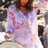 Яркий стиль бохо пляжная туника из хлопка Indiano, AnastaSea код 222A
